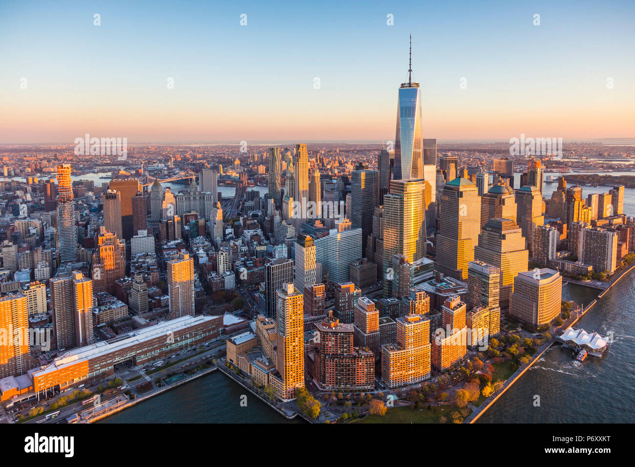 Le centre-ville de Manhattan, New York City, USA Photo Stock