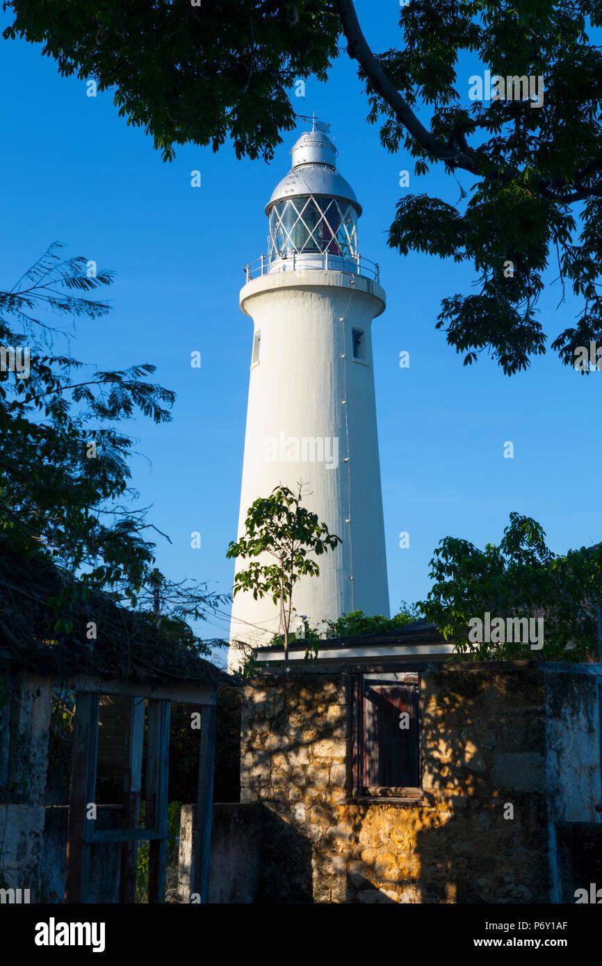 Phare Negral, Negril, Jamaïque, la paroisse de Westmoreland, Caraïbes Photo Stock