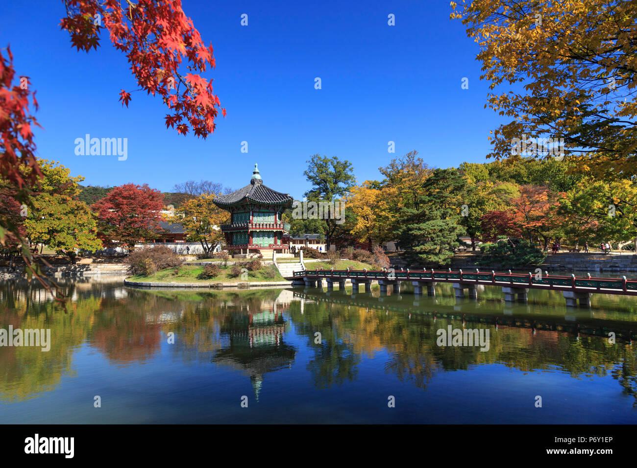 La Corée du Sud, Séoul, Palais Gyeonbokgung Photo Stock