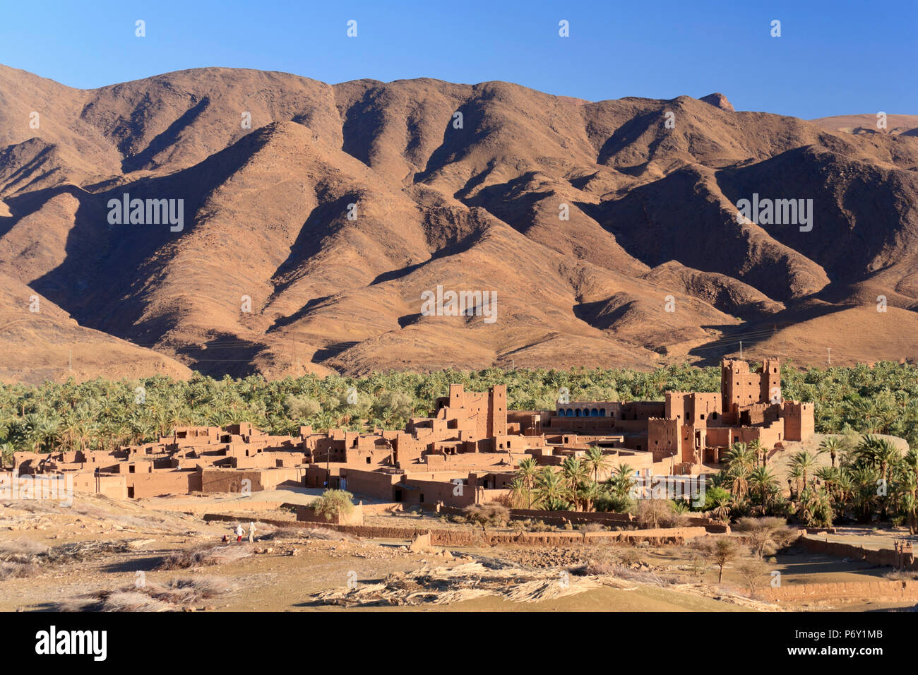 Le Maroc, vallée du Drâa, la Kasbah Tamnougalt Photo Stock