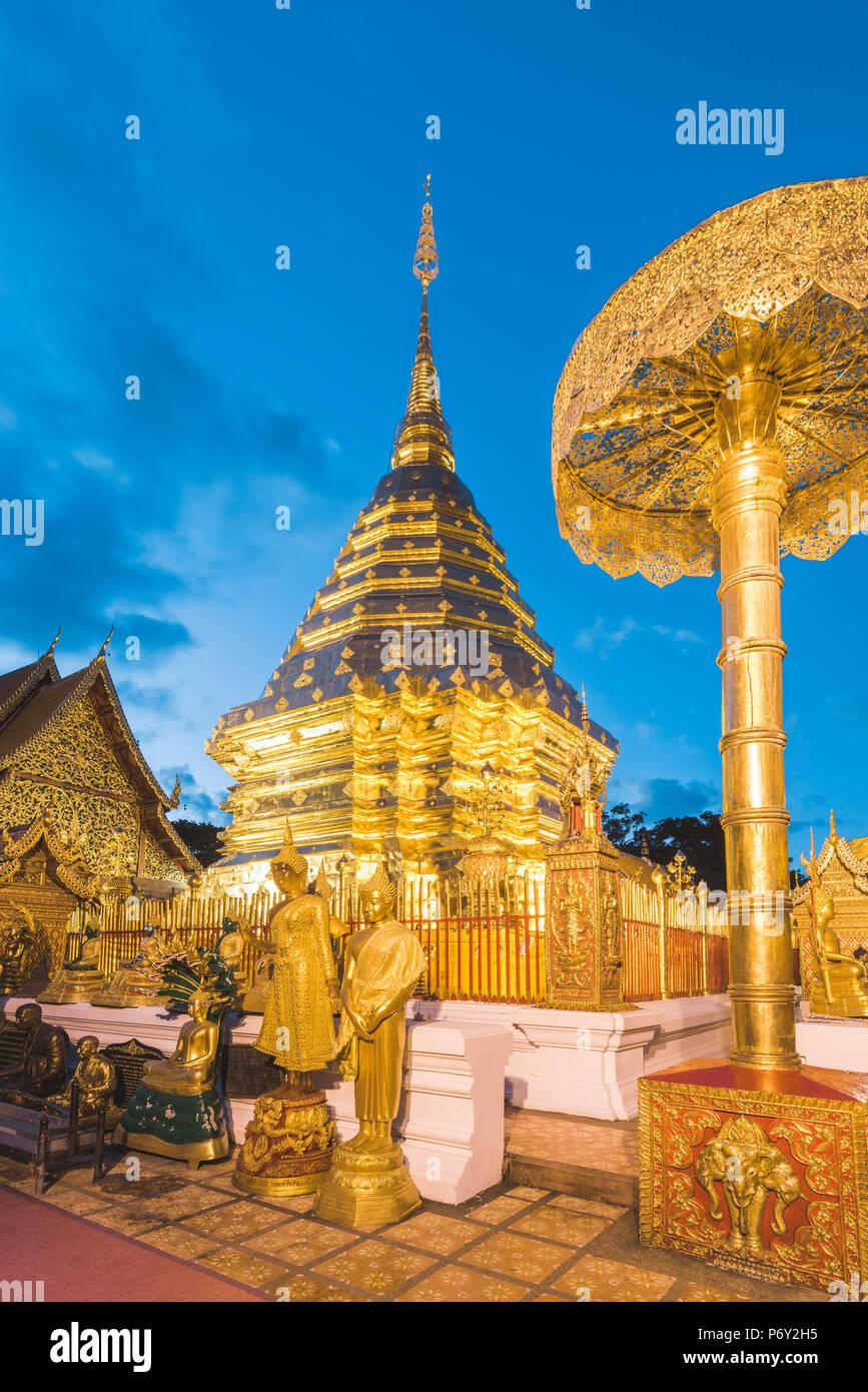 Wat Phrathat Doi Suthep, Chiang Mai, Thaïlande. Photo Stock