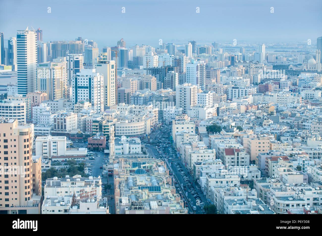 Bahreïn, Manama, vue d'Al Hoora Photo Stock