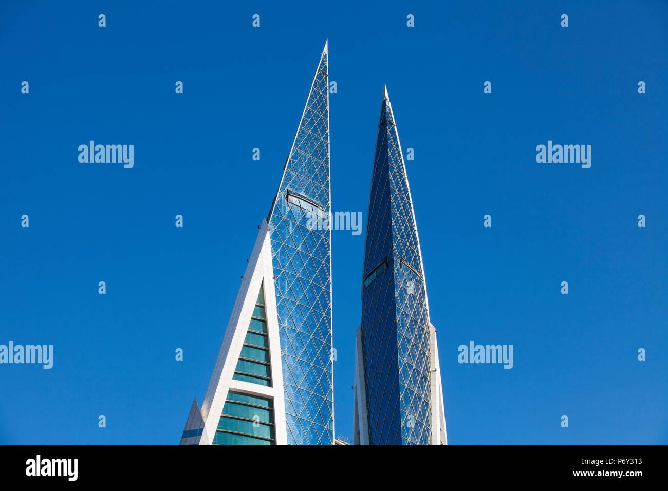 Bahreïn, Manama, Bahrain World Trade Centre Photo Stock