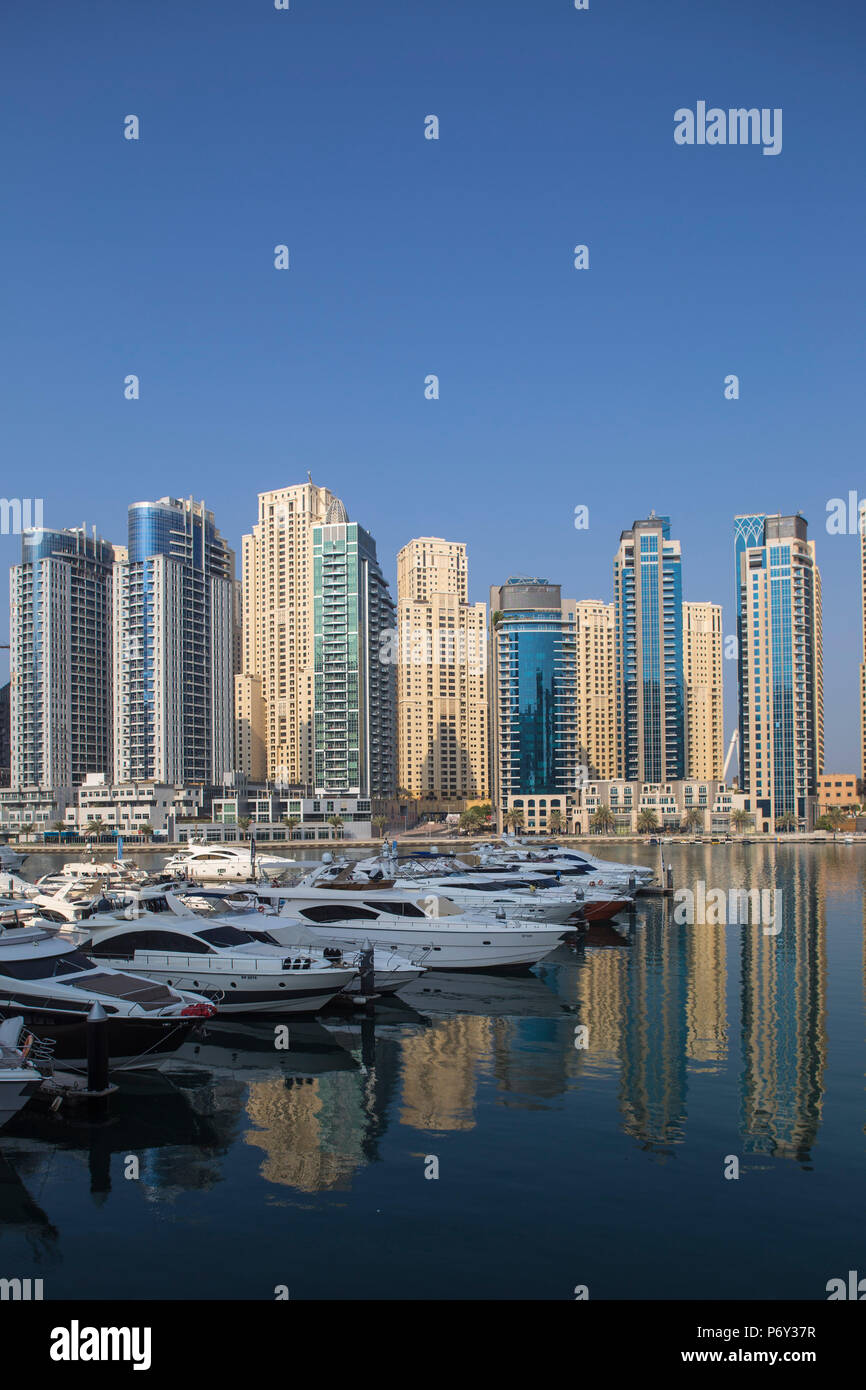 Emirats Arabes Unis, Dubai, Dubai Marina Photo Stock