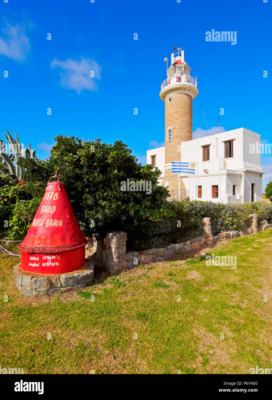 L'Uruguay, Montevideo, vue sur le phare de Punta Brava. Photo Stock