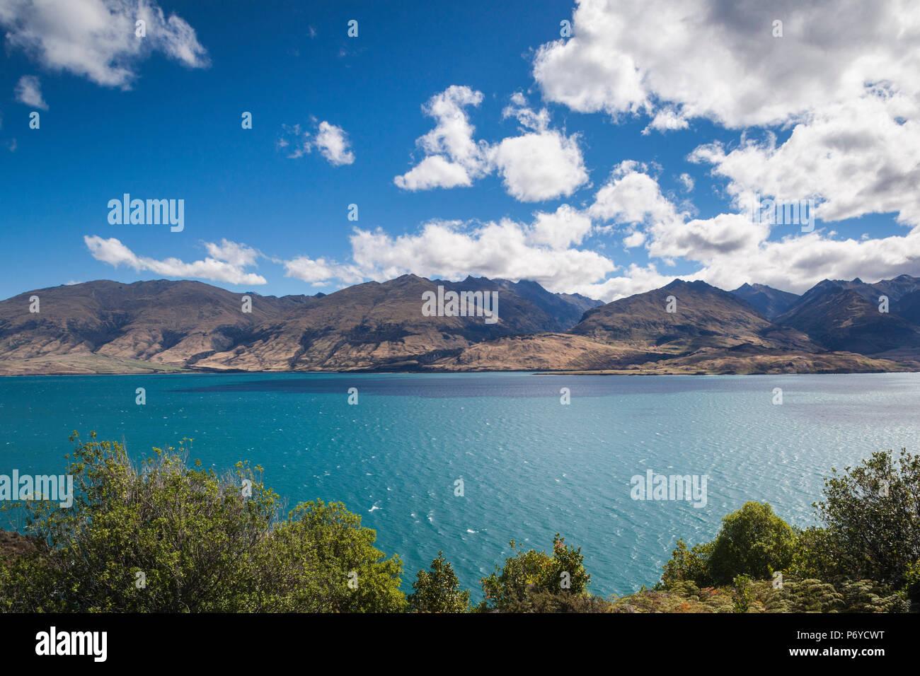 Nouvelle Zélande, île du Sud, de la région de l'Otago, Wanaka, Wanaka Lake Banque D'Images
