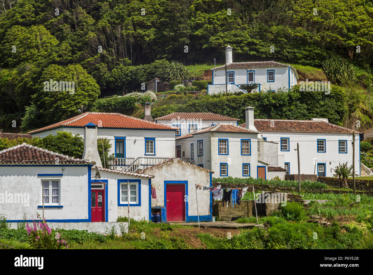 Le Portugal, Açores, l'île de Santa Maria, Santa Barbara Photo Stock
