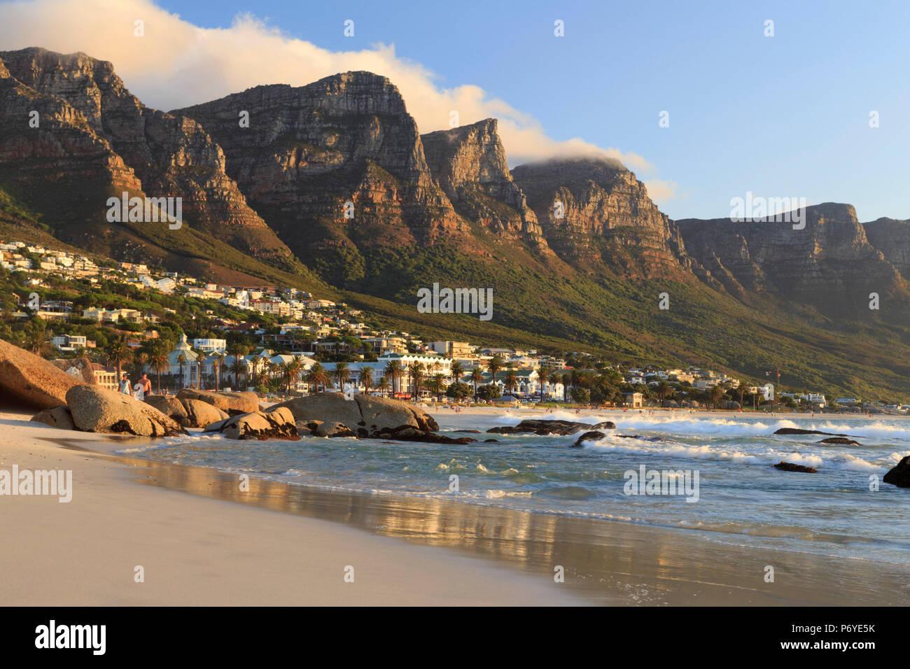 L'Afrique du Sud, Western Cape, Cape Town, Camps Bay Photo Stock