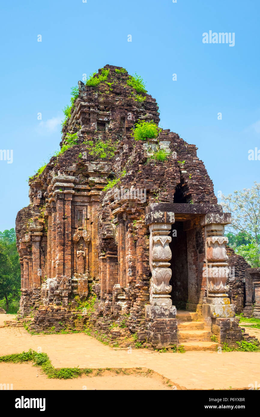 Mon fils ruines Cham site du temple, District de Duy Xuyen, Province de Quang Nam, Vietnam Photo Stock
