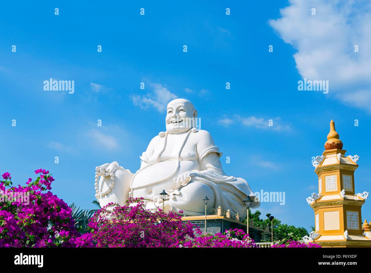 L'Asie, l'Asie du Sud Est, le Vietnam, le delta du Mékong, My Tho, Vinh Trang, temple bouddhiste Photo Stock