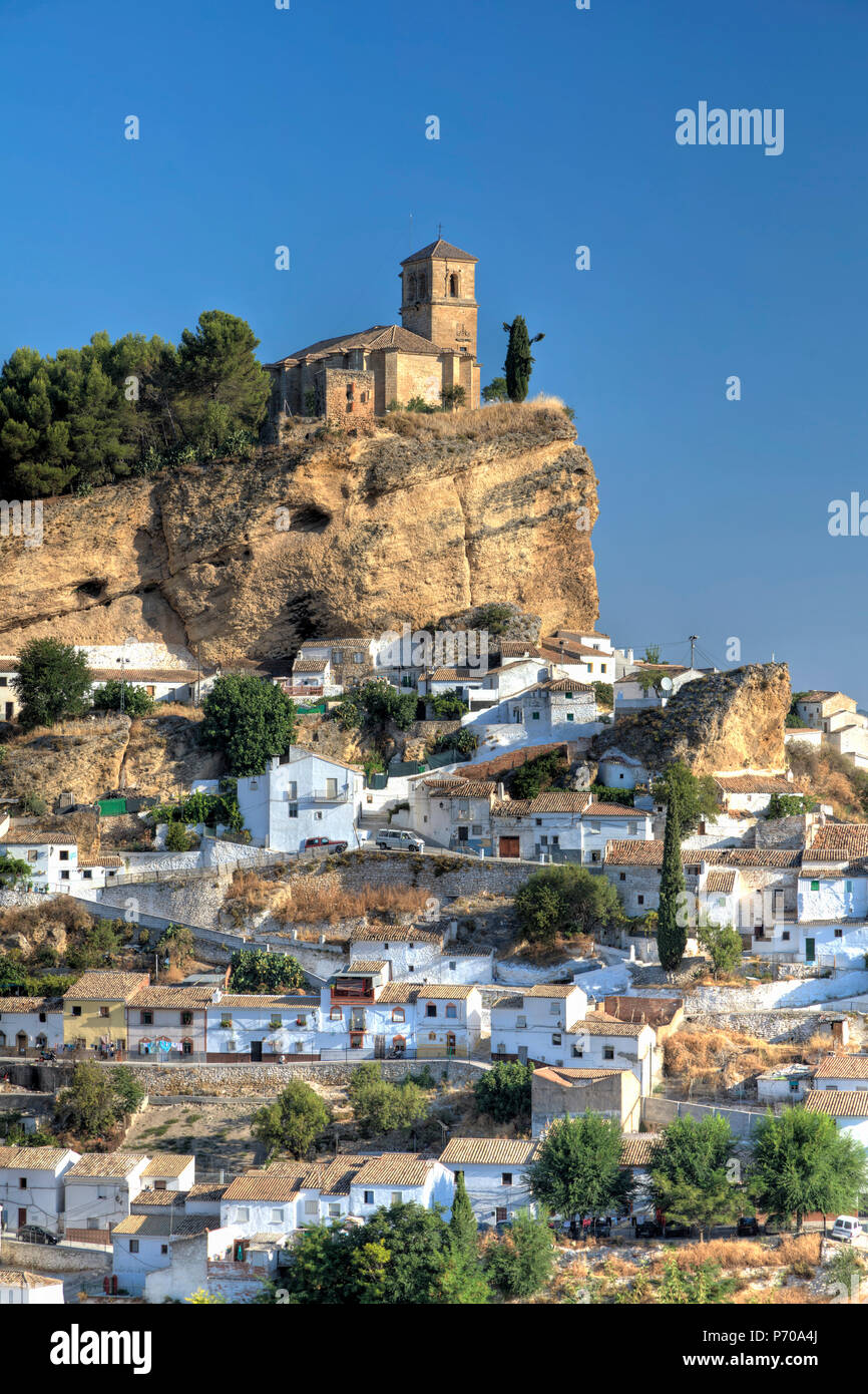 Espagne, Andalousie, province de Grenade, Montefrio Village Photo Stock