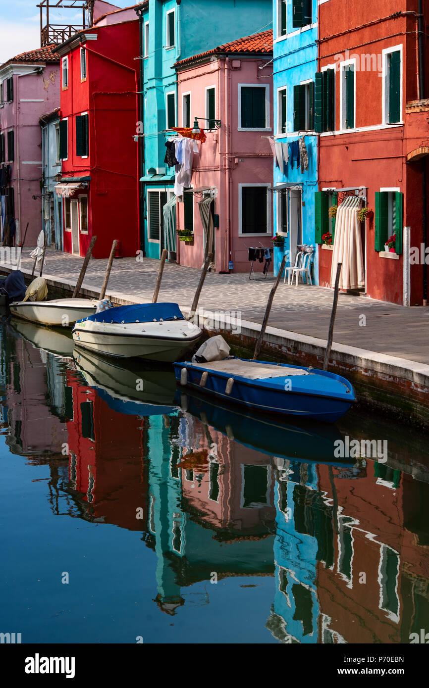 Burano Venise Italie, prises au cours du printemps. Photo Stock