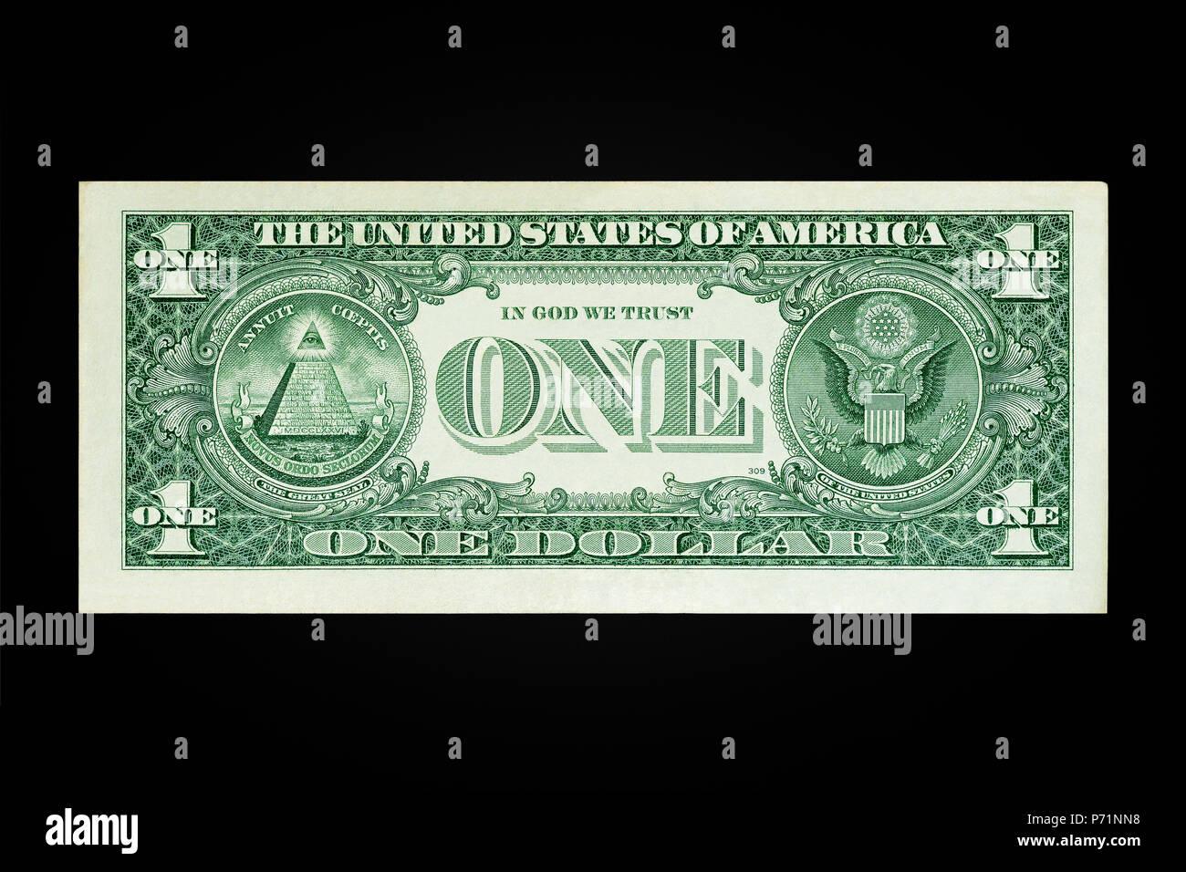 Un Dollar US Remarque La marche arrière Photo Stock