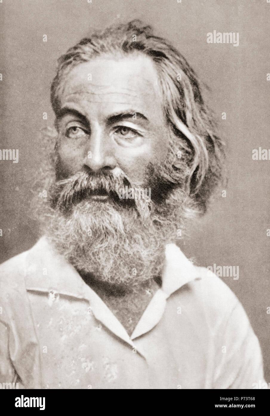 Walt Whitman 'Walter', 1819 - 1892. Poète, essayiste et journaliste. Après une impression contemporaine. Banque D'Images