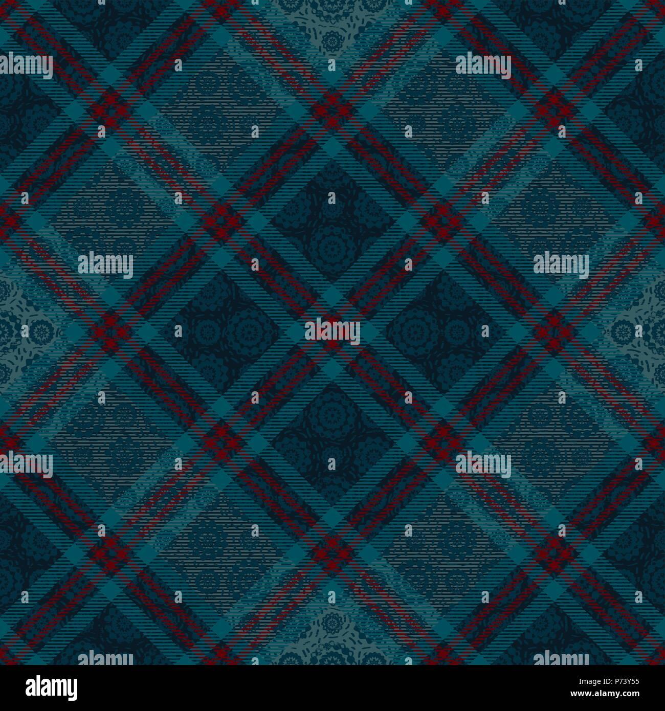 Tartan Diagonal inspiré de fond transparent vecteur 10 Illustration de Vecteur