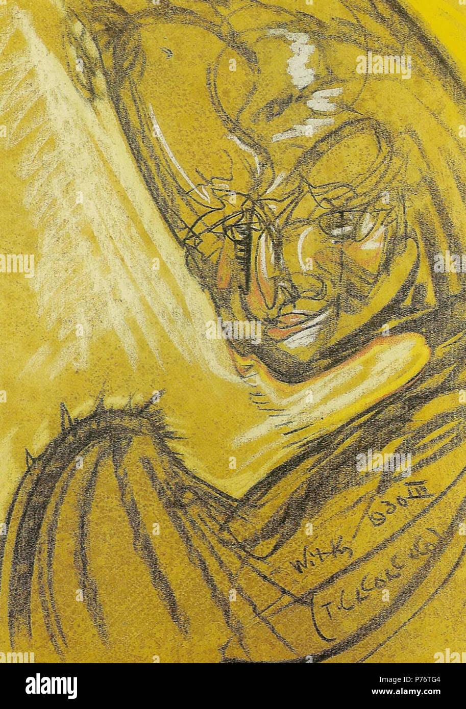 Polski: 'Portret Artura Schroedera', na papierze pastel, 63 x 48 cm, Muzeum Pomorza, rodkowego Supsk . 3 mars 1930 Witkacy-Portret Schroedera Artura Banque D'Images