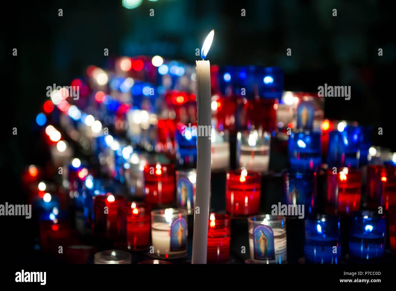 Des bougies à Lyon, France Banque D'Images
