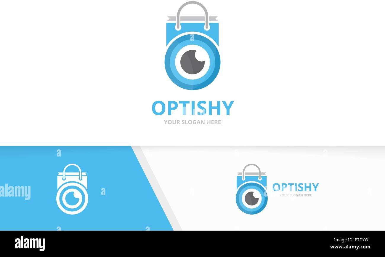 Vector eye et logo boutique combinaison. Optique et la vente d un symbole ou 464167716daa