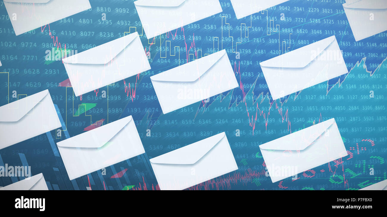 Image composite de vecteur d'enveloppes Photo Stock
