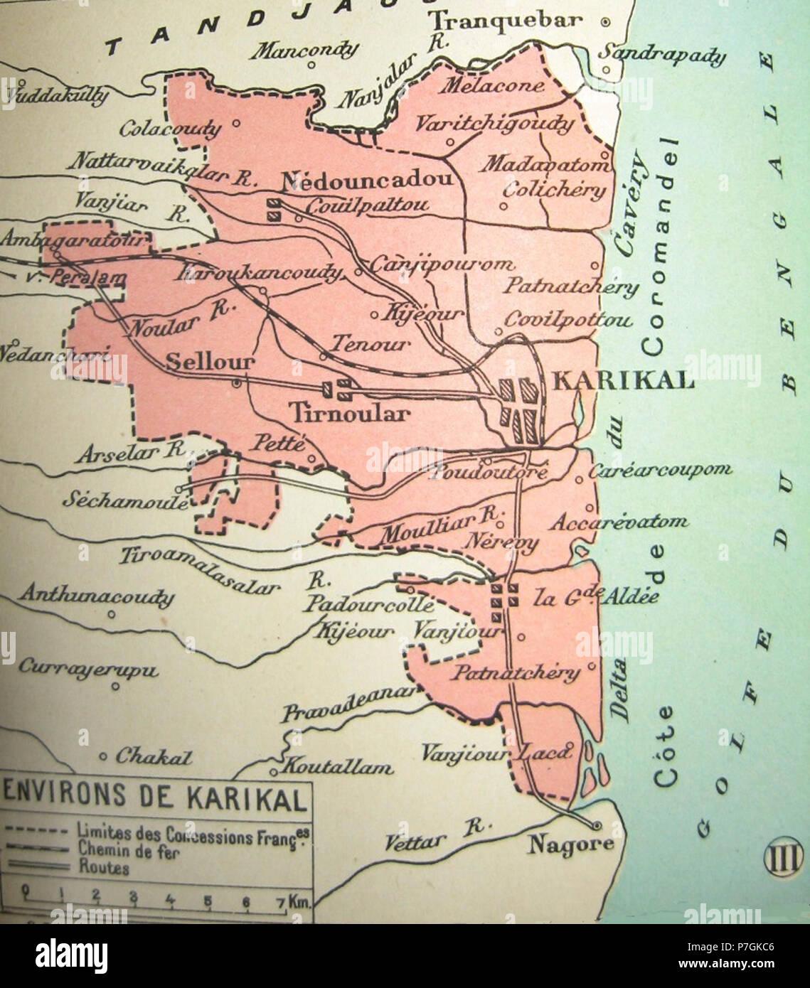 English Territoire De Karikal à Quelque 80 Km Au Sud De Pondichéry