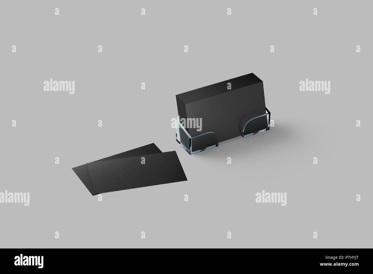 Carte De Visite Immersive En Noir Porte Acrylique Isols Bote Verre Transparent
