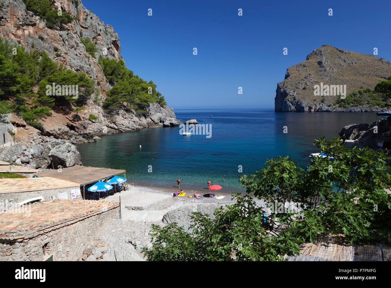 Vue de la plage de Sa Calobra sur l'île de Majorque Banque D'Images