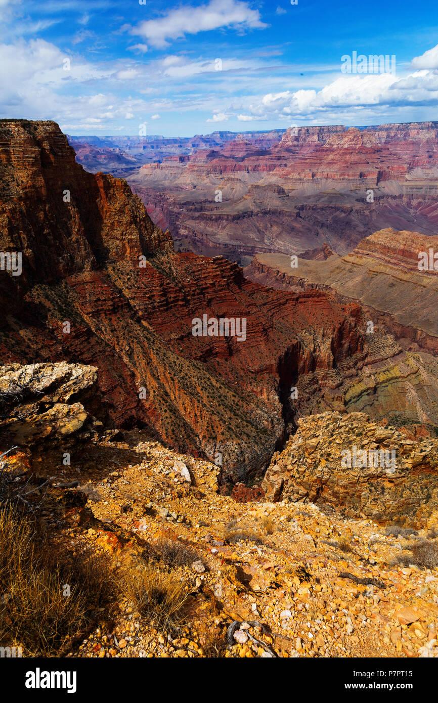 Le Parc National du Grand Canyon, South Rim, Arizona, USA Photo Stock