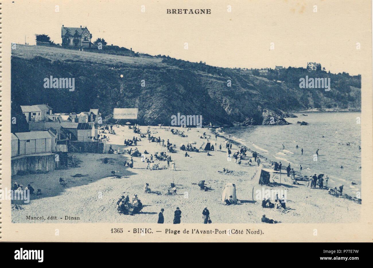 English : Binic (Côtes-d'Armor, France) , carte postale ancienne. 1 Janvier 1935 46 Binic-FR-22 ...