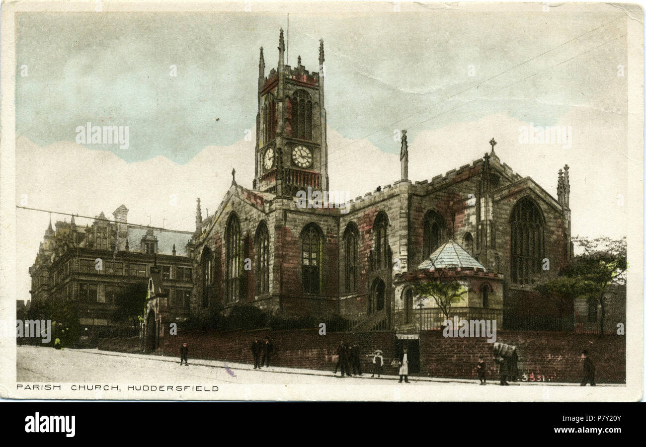 Huddersfield Carte Angleterre.Anglais Carte Postale Avant 1914 L Eglise Paroissiale De
