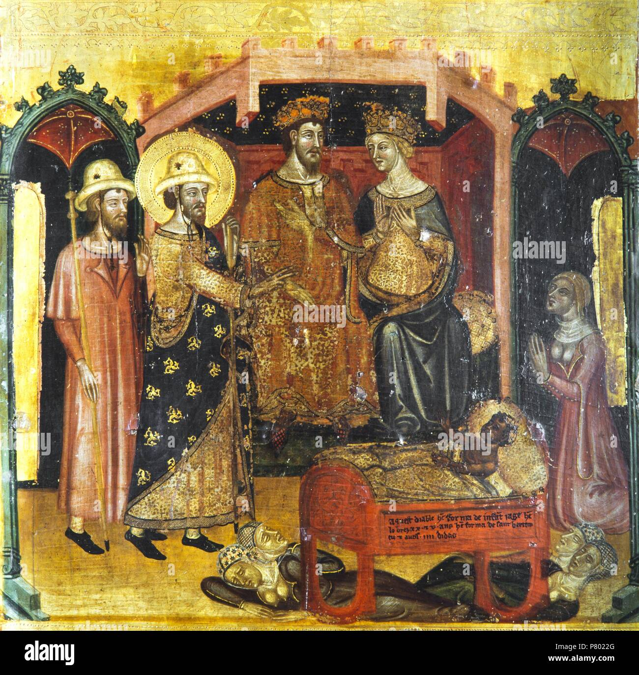 Retable De San Bartolome 1350 1375 Nacimiento De San Bartolome