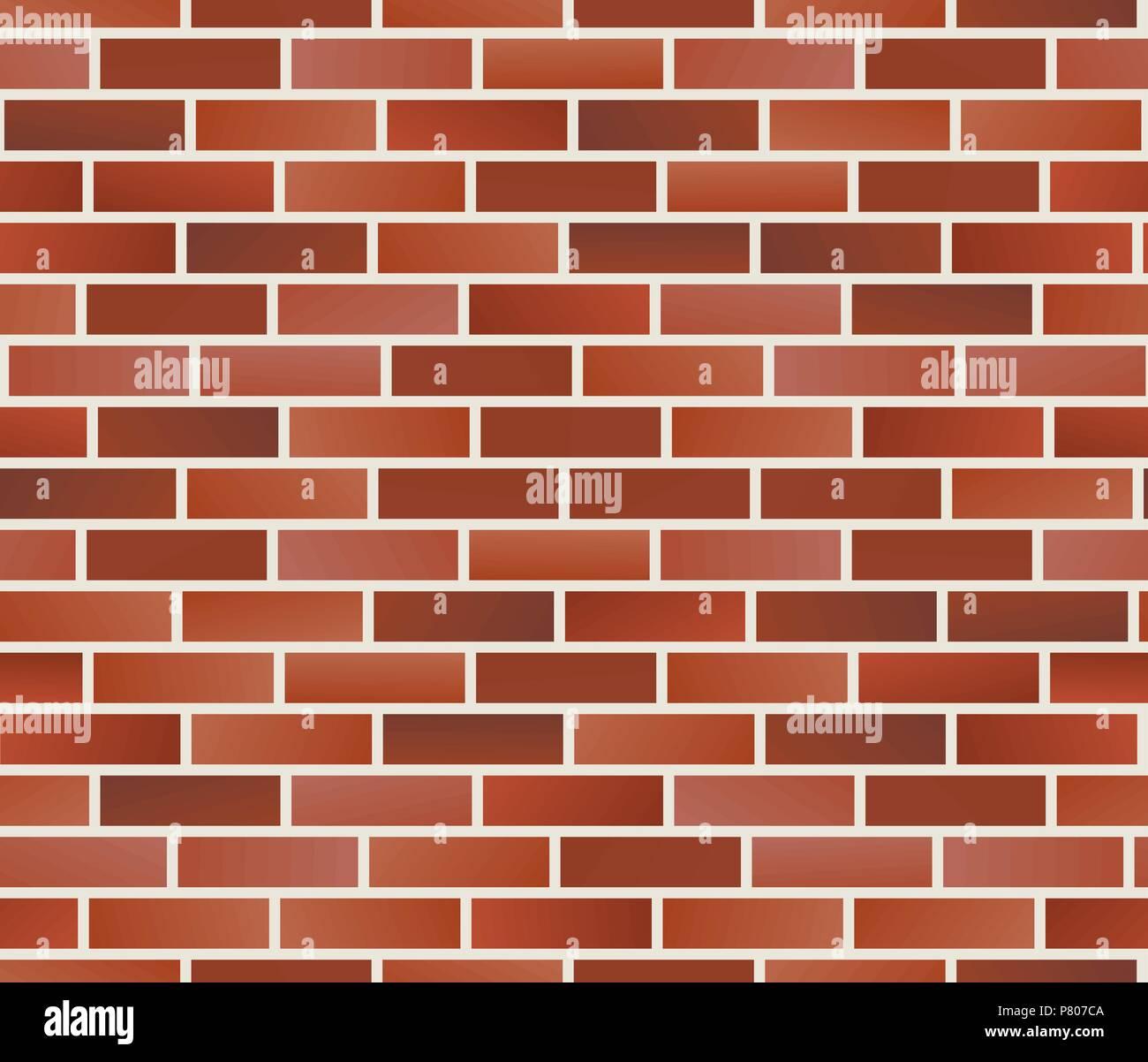Mur En Brique Rouge mur de brique rouge. mur de brique sans motif. vector