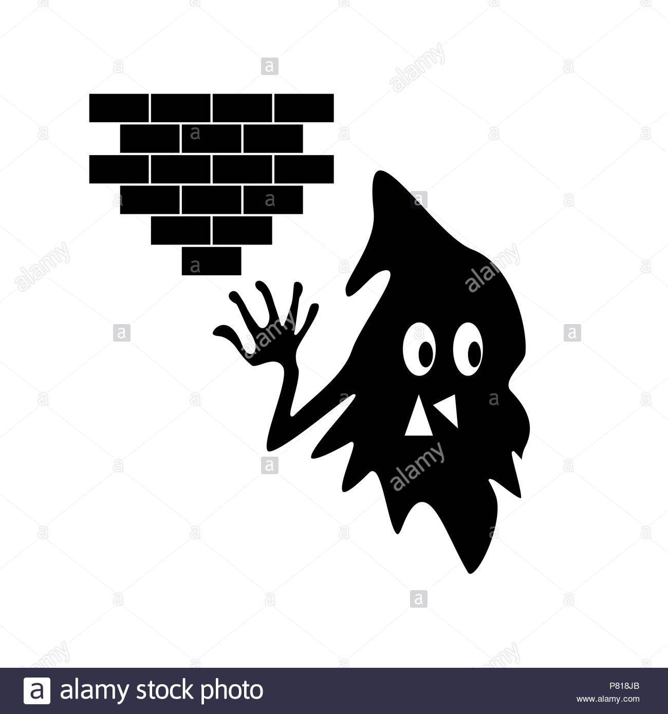 Black monster silhouette Photo Stock