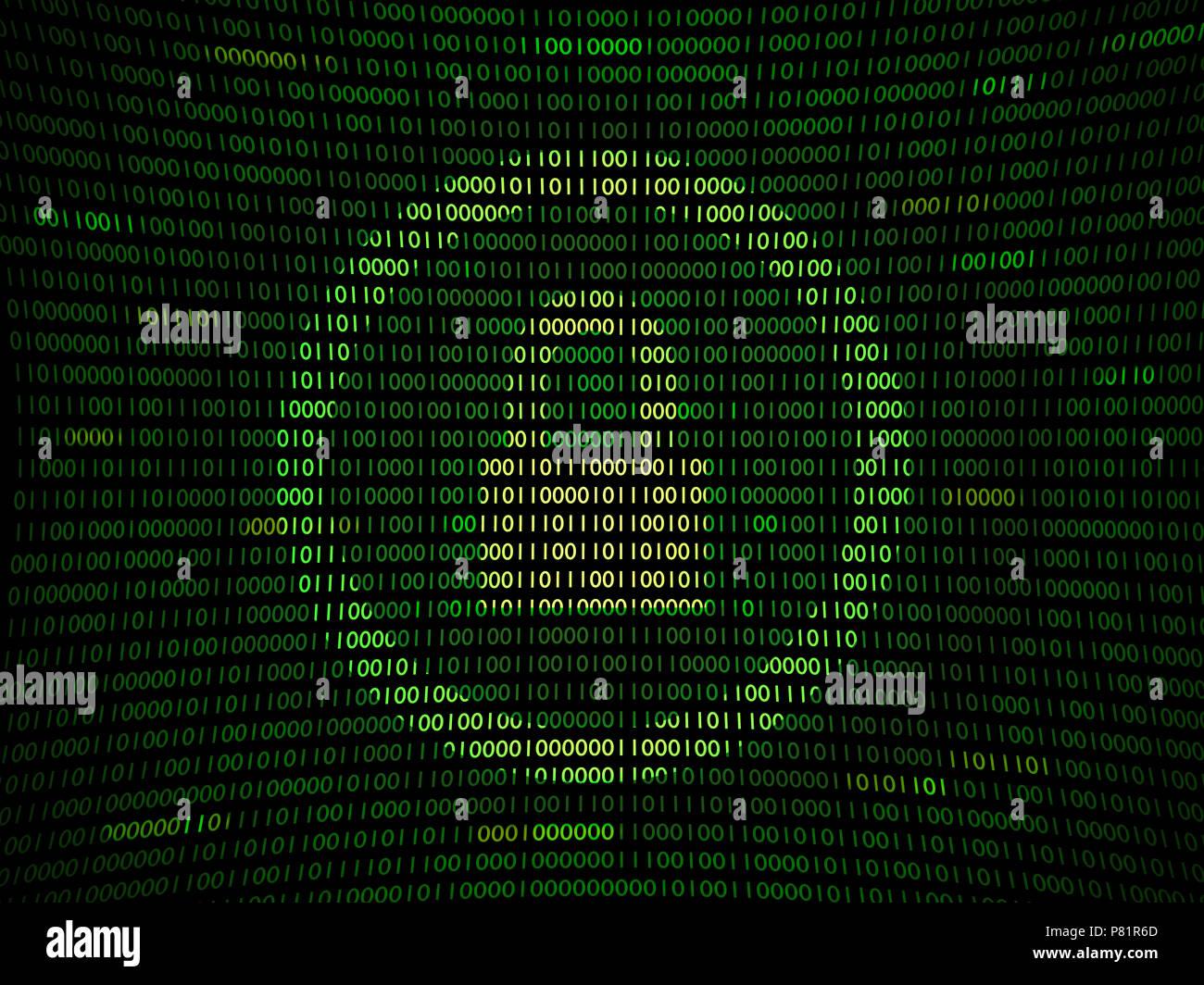 Code vulnérable hacking Photo Stock
