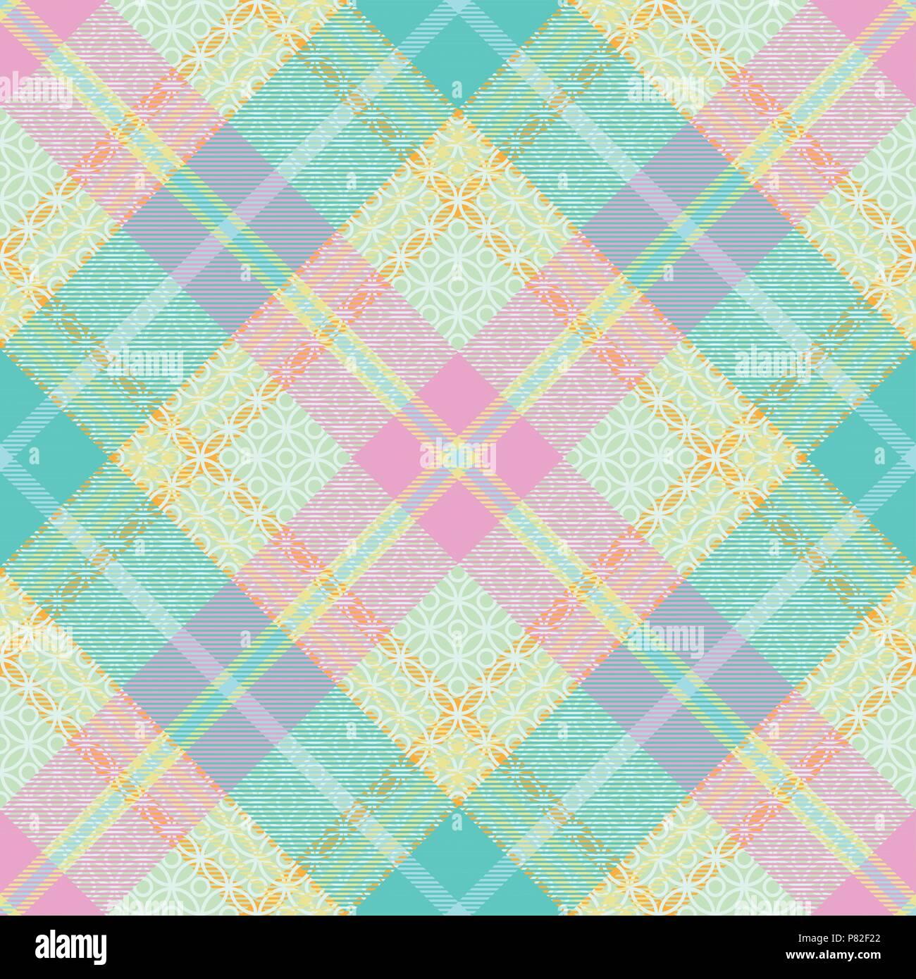 Tartan Pastel transparente motif 2 vecteur d'inspiration Illustration de Vecteur