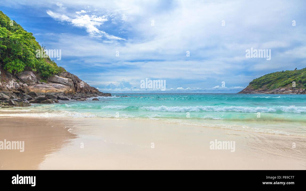 Paradise Patok Beach sur l'île de Racha Yai en Thaïlande. Photo Stock