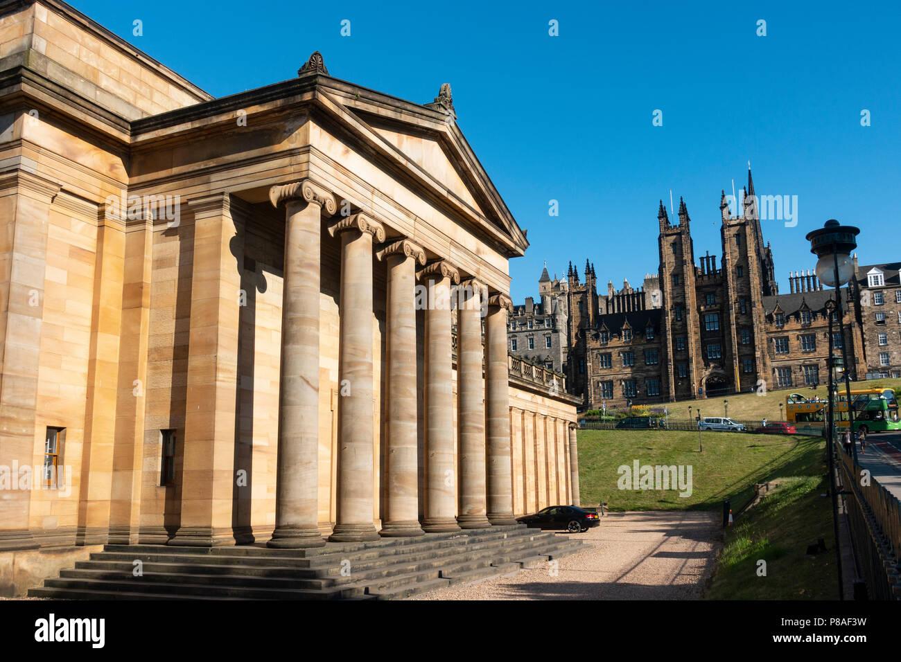 Extérieur de Scottish National Gallery Art Museum à Édimbourg, Écosse, Royaume-Uni Photo Stock
