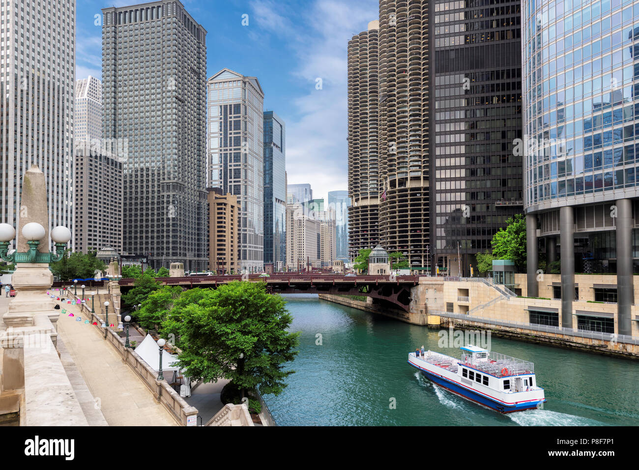 Chicago City skyline Photo Stock