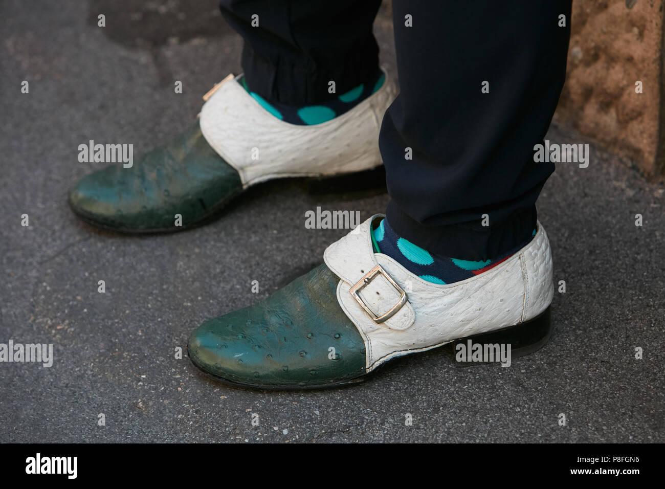 Milan 17 L'homme Chaussures Et Blanc JuinAvec En Cuir Vert rCxBodeW
