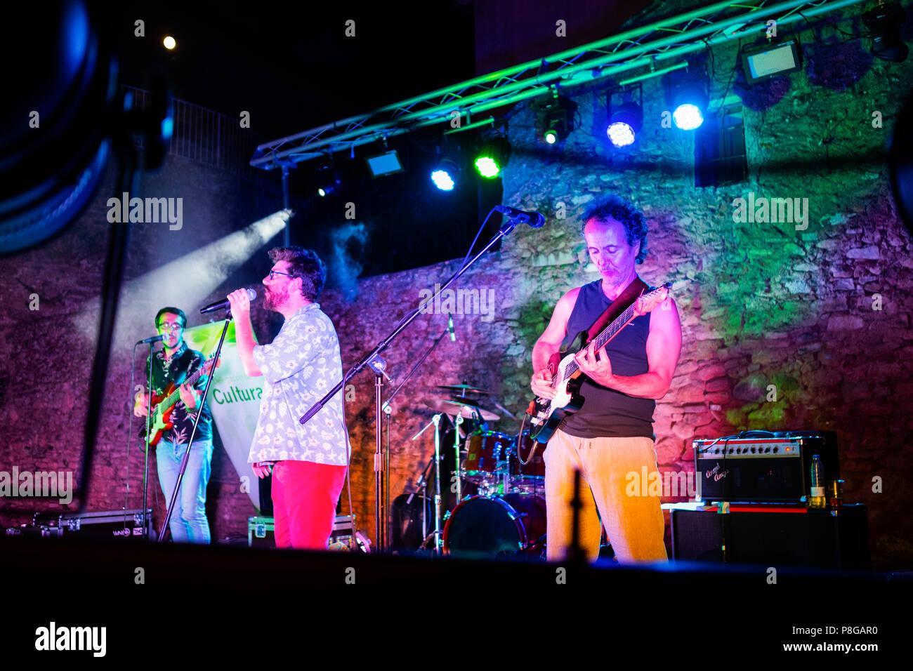 Tabletom music group, les concerts sur nuits d'été. Ville historique de Ronda. La province de Malaga Andalousie. Le sud de l'Espagne Europe Banque D'Images
