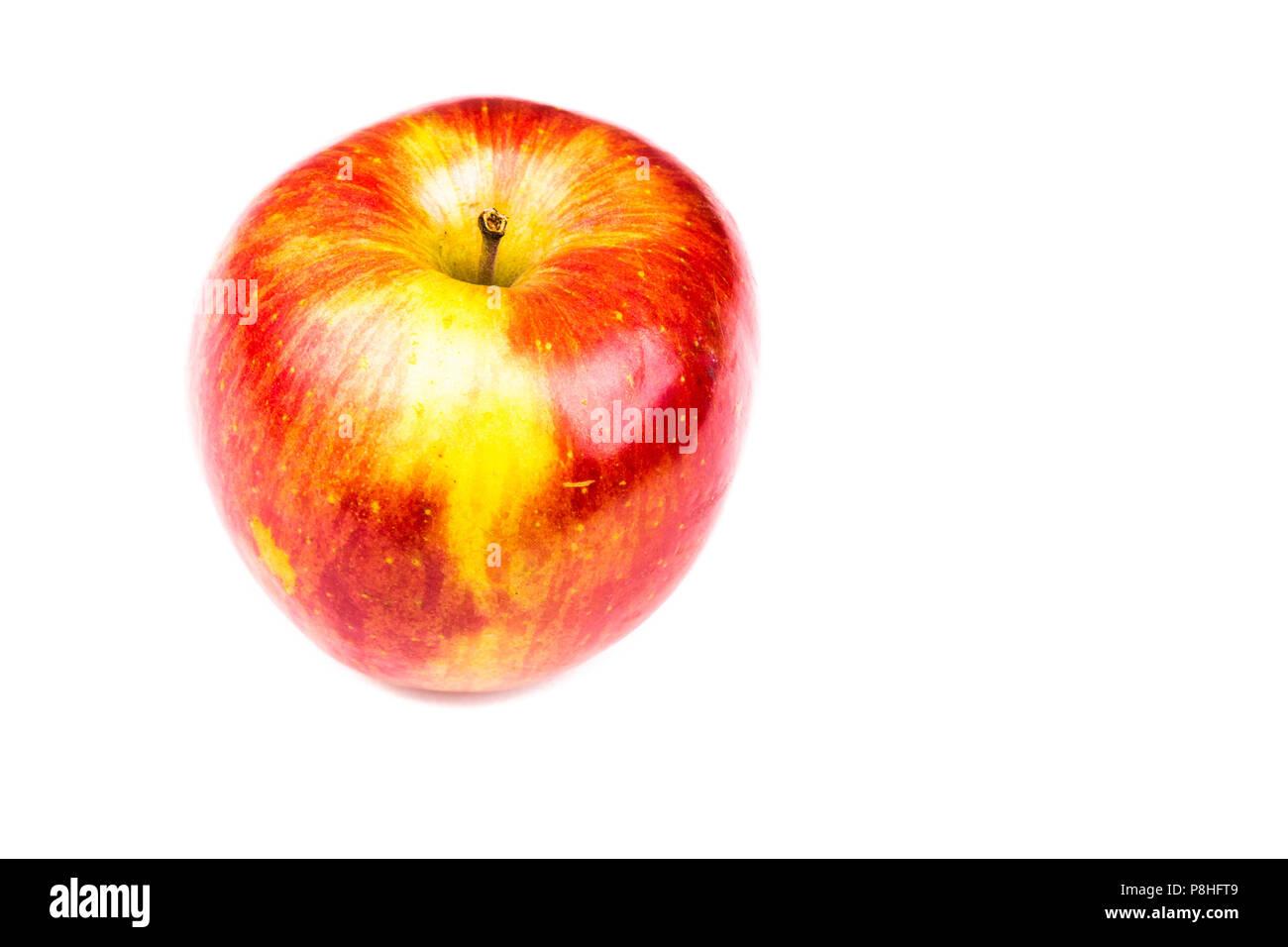 Pomme sur un fond blanc Photo Stock