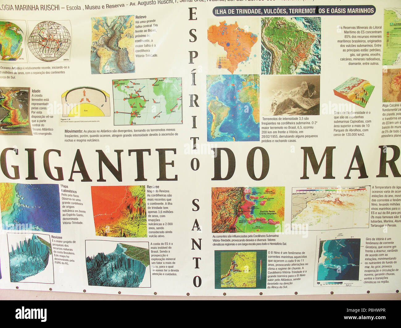 Carte Marine Bresil.La Carte La Mer Geant Biologie Marine Gare Ruschi Santa