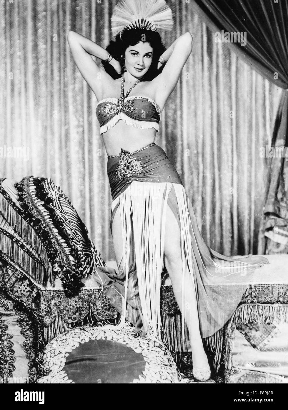 Rhonda Fleming, peu d'egypte, 1951 Photo Stock