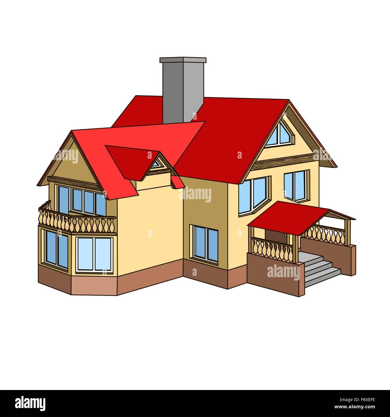 toit de maison dessin Maison de dessin animé avec un toit