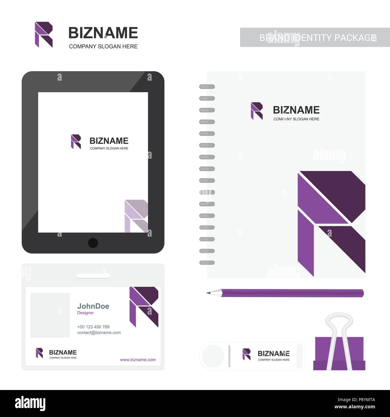 Journal De Lentreprise R Avec Logo Et Carte Visite Mobile App Vecteur Conception Pour La Web Linterface Dapplication