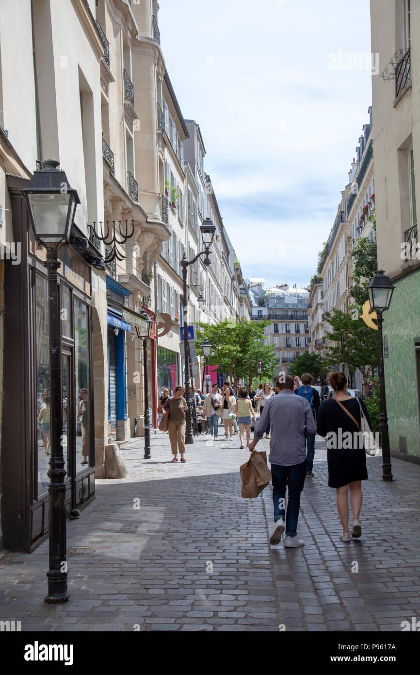 Rue Des Rosiers a Paris, France Banque D'Images