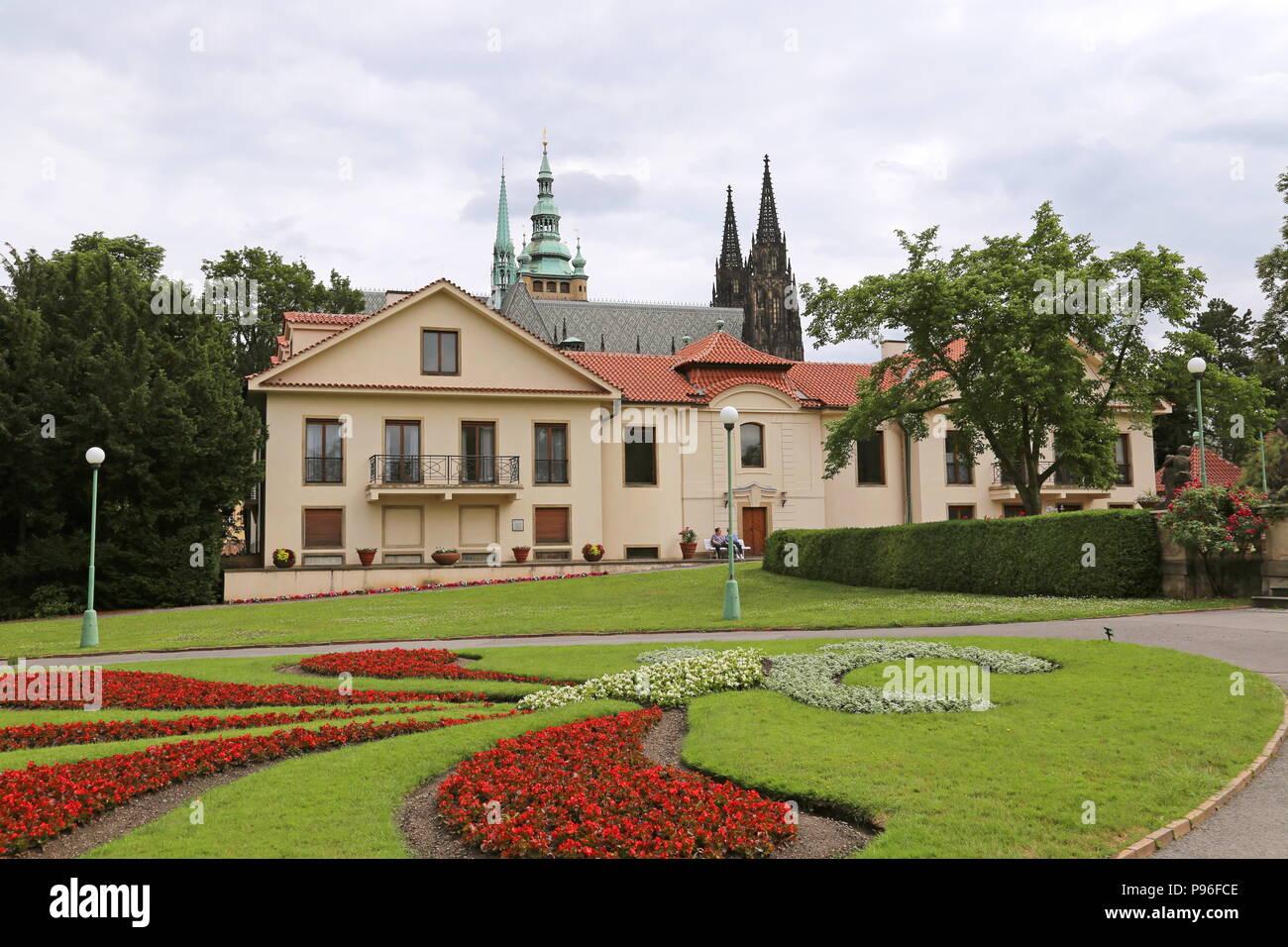 Royal Garden, Hradčany, Prague, Tchéquie (République tchèque), de l'Europe Photo Stock