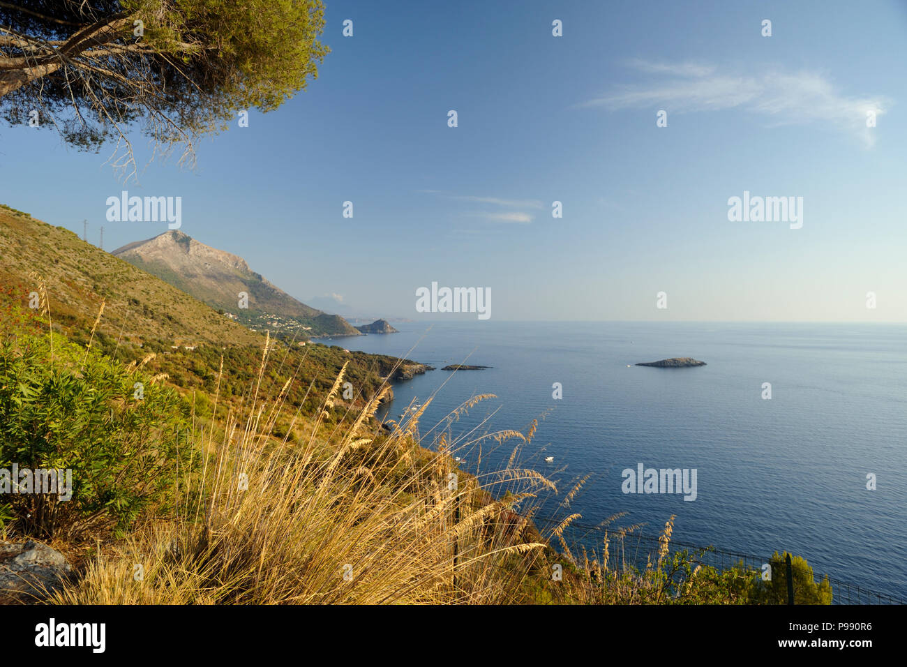 L'Italie, la Basilicate, Maratea, coast Photo Stock