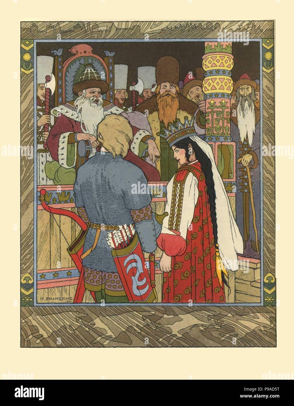 Illustration Conte De Fée illustration pour le conte de fées d'ivan tsarévitch, l'oiseau de