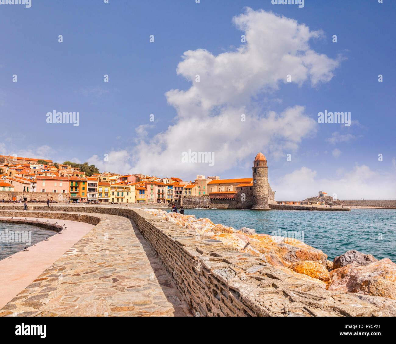 Collioure, Languedoc-Roussillon, Pyrénées-Orientales, France. Photo Stock