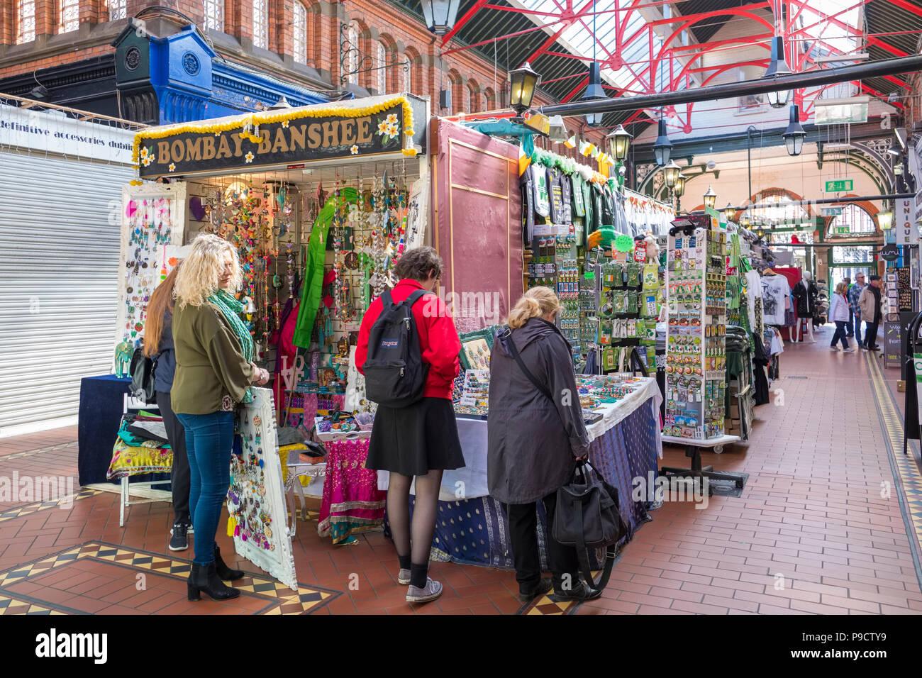 Georges Street Market Arcade, Dublin, Irlande, Europe Photo Stock